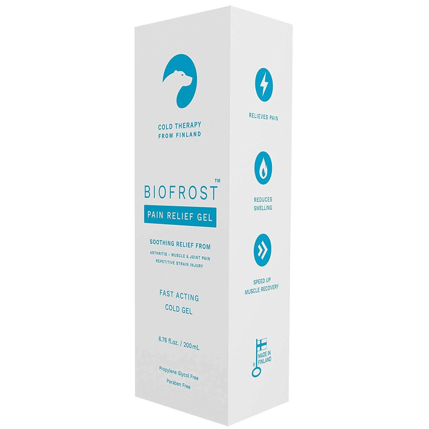 biofrost pain relief cold gel retail package